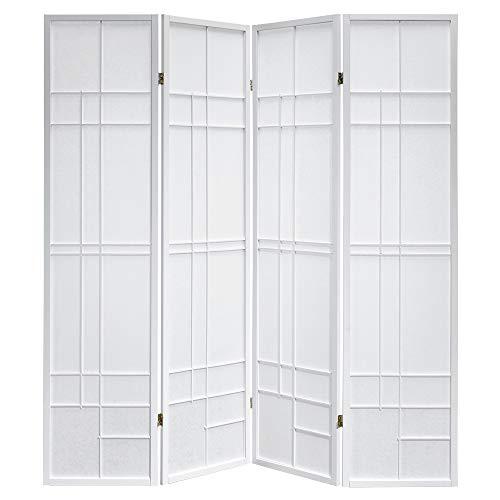 Paravents by Cilios Paravent Trend Style 4 White Rahmen weiß, Moderne Stellwand
