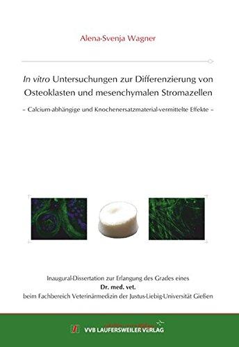 In vitro Untersuchungen zur Differenzierung von Osteoklasten und mesenchymalen Stromazellen: - Calcium-abhängige und Knochenersatzmaterial-vermittelte Effekte - (Edition Scientifique)
