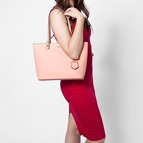 Borse per le donne spalla borse borsa portatile borse a cartella hobo 3pcs borsa set Rosa
