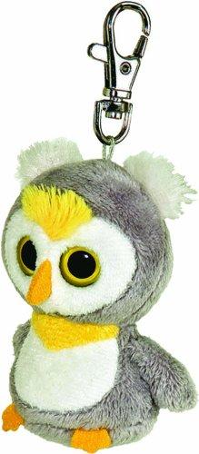 Preisvergleich Produktbild YooHoo & Friends Plüschtier Eule, Loonee Schneeeule Schlüsselanhänger, graues Kuscheltier ca. 7 cm