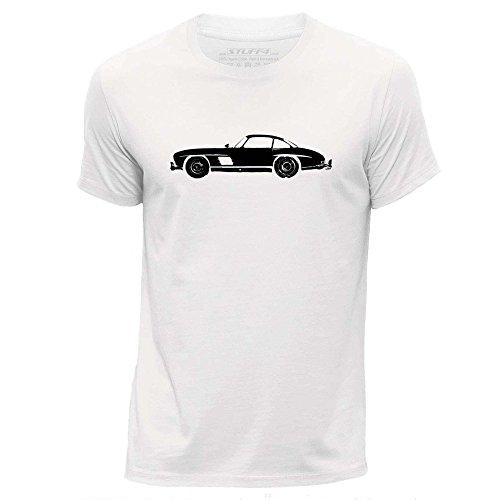 stuff4-herren-mittel-m-weiss-rundhals-t-shirt-schablone-auto-kunst-300-sl-w198