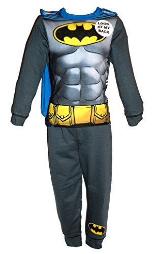 Set pigiama/costume a tema fumetti, per ragazzi/bambini, motivo buzz lightyear, woody, batman, capitan america, darth vader, hulk, iron man, spiderman, superman, età 18 - 24 mesi, 2 - 3 anni, 3 - 4 anni, 5 - 6 anni, 7 - 8 anni batman