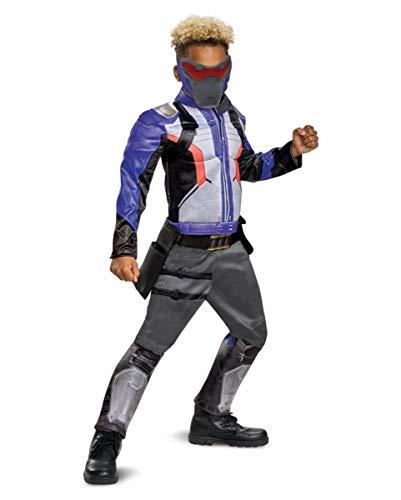 Horror-Shop Overwatch Soldier 76 Kinder Muskelkostüm als Verkleidung für Gamer & Comic Con L (Kostüme Shop Comic-con)