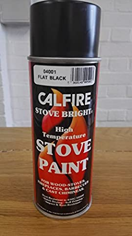 Calfire Stove Bright Stove Paint- Matt Black