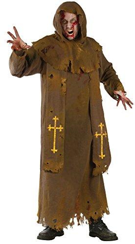 Zombiemönch Robe - Halloween Herren ()