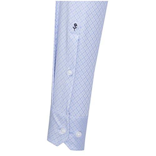 SEIDENSTICKER Herren Hemd X-Slim 1/1-Arm, extra lang Bügelfrei City-Hemd Kent-Kragen Kombimanschette weitenverstellbar hellblau (0013)