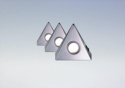 Delta Maxi 3er Set LED edelstahl mit Zentralschalter