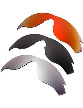 Hkuco Plus Mens Replacement Lenses For Oakley M2 Red/Black/Titanium Sunglasses