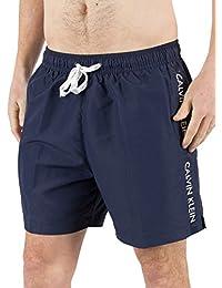 Calvin Klein Homme Medium Vertical Logo Short de bain, Bleu