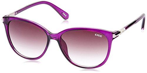 IDEE Gradient Square Women's Sunglasses - (IDS2082C4SG|57|Purple Gradient lens) image