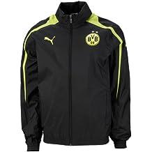 PUMA Borussia Dortmund impermeable con capucha del Borussia Dortmund 09 Rain Jacket negro, color , tamaño S