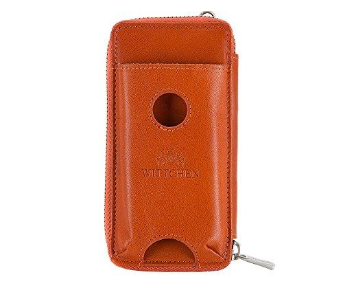 Wittchen Geldbörse | Farbe: Orange| Material: Narbenleder| Größe: 7x15 CM, | Orientierung: | Kollektion: Roma| 22-1-114-6 (Geprägte Fossil Brieftasche)