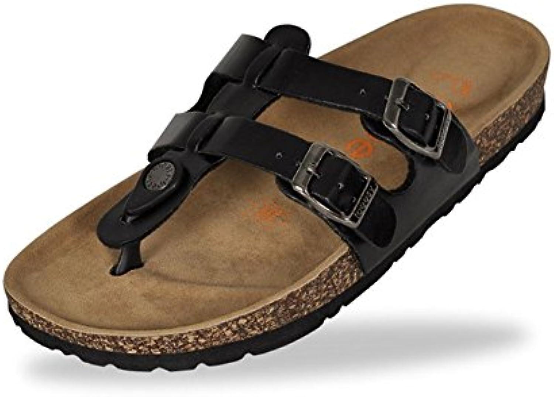 YWNC Zapatillas de dedo del pie del corsé de los hombres Sandalias de los pares Playa Casual Tacón plano Fondo...