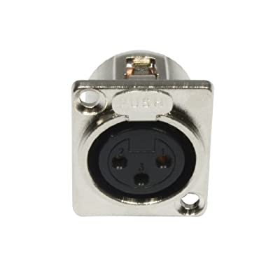 Accu Cable 3 Pin XLR Female Panel Connector