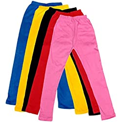 IndiWeaves Girl's Super Soft Cotton Leggings Combo Pack of 5 (7140907050408-IW-24_Multicolour_3-5 Years)