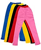 #5: IndiWeaves Kid's Super Soft Cotton Leggings Combo 5