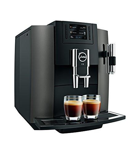 Jura E8freistehend vollautomatisch Maschine Espresso 1.9L 16tazas schwarz, Edelstahl-(freistehend, Maschine Espresso Kaffeemaschine, schwarz, Edelstahl, Tasse, Knöpfe, TFT)