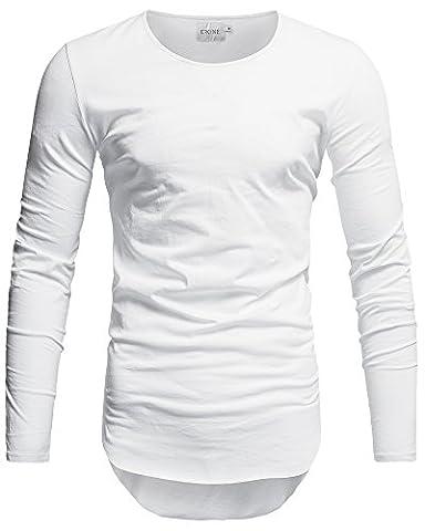 Crone Herren Langarm Shirt Longsleeve Slim Fit T-Shirt Leicht Oversize