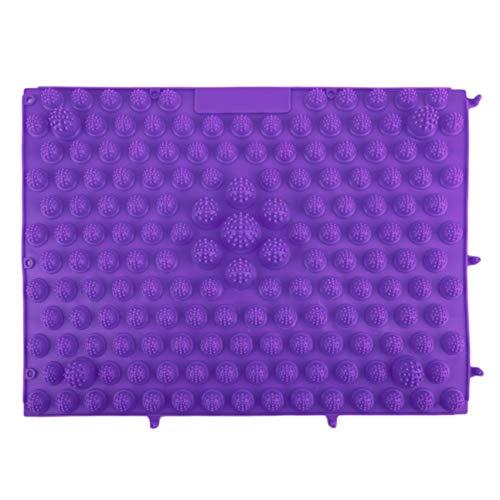 Preisvergleich Produktbild Korean Style Fußmassage Pad TPE Moderne Akupressur Reflexzonenmatte Akupunktur Teppiche Müdigkeit Entlasten Fördern die Durchblutung Lila