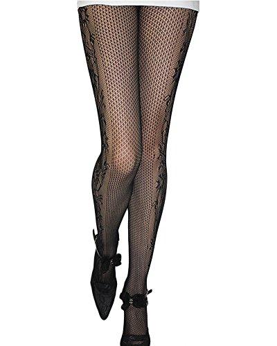 3 paia collant e calzamaglie elegante calze a rete donna pantyhose collant stampati taglia unica più stili per la selezione stile 13