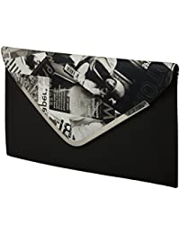 Purses For Women Branded Leather By EDGEKART | Piachi Women's Latest Fancy Shiny PU Leather Sling Bag - Black