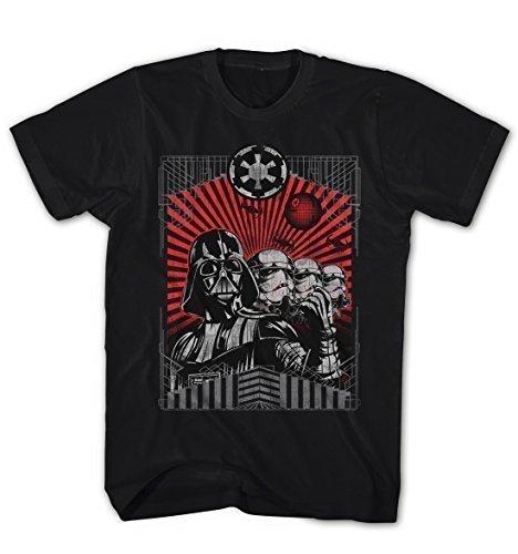 Preisvergleich Produktbild Herren T-Shirt Darth Vader Stormtroopers - The Dark Side Star Wars Movie Film