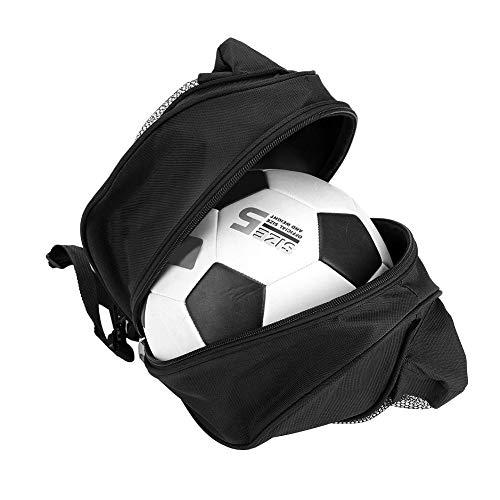 Alomejor Sport Balltasche Rucksack Tragbare Einzelne Umhängetasche für Basketball Fußball Volleyball Große Stauraum Kapazität(Schwatz)