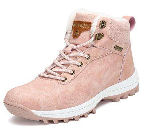 Pastaza Winterstiefel Damen Gefüttert Winterschuhe Wasserdicht Trekking Wander Schuhe Outdoor rutschfest Schnee Stiefel Winter Boots Rosa, 38