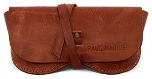 CUSTODIA PER OCCHIALI in pelle PAUL MARIUS, adatto per tutti i formati Vintage & Rétro PAUL MARIUS