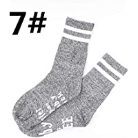 OHlive Suave Calcetines atléticos Antideslizantes del Estilo de Las Letras del algodón de Las Mujeres (Color : 7, tamaño : Talla única)