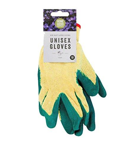 Beaucoup Shop Unisexe Gants de jardinage en latex trempage Multipurpose Ménage Bundle, 4 Pairs