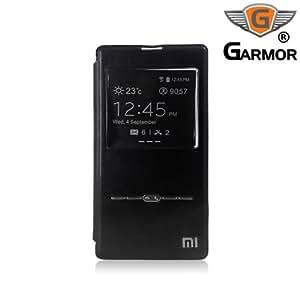 Garmor Xiaomi Redmi 1S Window Cut Button Flip Cover Case- Black
