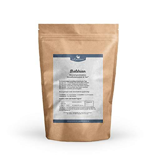 Krauterie Baldrian-Wurzel geschnitten in sehr hochwertiger Qualität, frei von jeglichen Zusätzen, als Tee oder für Pferde und Hunde (Valeriana officinale) - 100 g