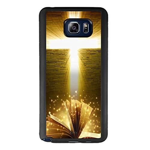 Custodia per Samsung Galaxy Note 5, antiurto, in morbido poliuretano termoplastico, design personalizzato per Samsung Galaxy Note 5, colore: nero Bible cross