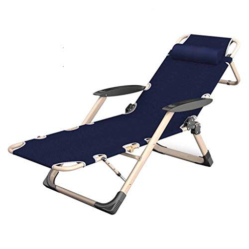 Chaise Pliante inclinable réglable Reclining Chairs Zero Gravity Sun Lounger Chaises Longues Garden Beach Bleu