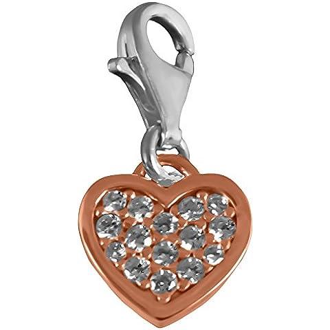Thomas Sabo Corazón Colgante Plata rosévergoldet con circonitas blancas 0970–416–14