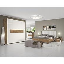 Schlafzimmer Komplett   Set A Manase, 5 Teilig, Farbe: Eiche Braun/