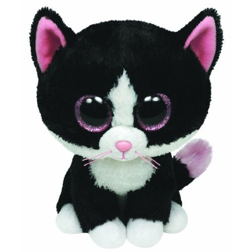 TY Beanie Boos - PEPPER the Black & White Cat (Glitter Eyes) (Regular Size - 6 inch) by Ty