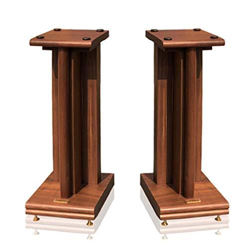 Standfüße Lautsprecherständer Monitorständer Audioständer Regallautsprecherständer Wohnzimmerblumenständer Musikzimmerhalter EIN Paar (Color : Wood Color, Size : 21.5 * 28 * 80)