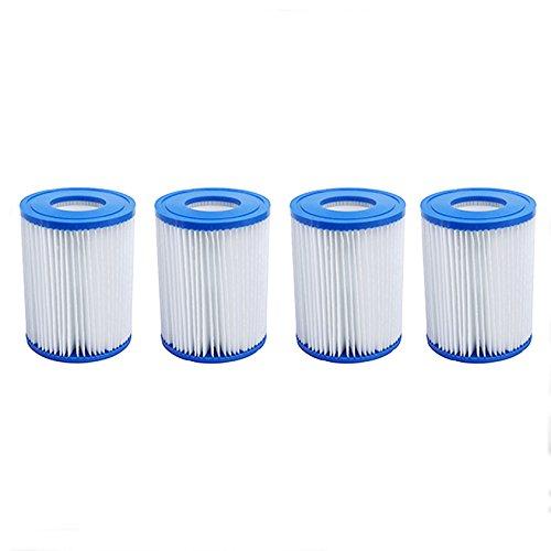 First4Spares Größe 2 Filter-Kartuschen für Pool/Bestway Lay-Z-Spa/Hot Tubs/Flowclear Pumps, 4 Stück