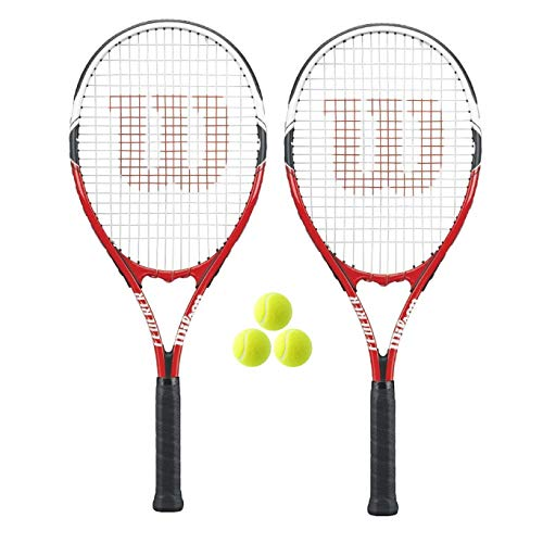 WILSON, 2 Racchette da Tennis per Adulti Federer + 3 Palline da Tennis.