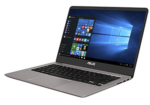 Asus Zenbook UX3410UA-GV078T 35,5 cm (14 Zoll mattes Full-HD Display) Notebook (Intel Core i7-7500U, 16GB RAM, 512GB SSD, Intel HD Graphik, Win 10) silber