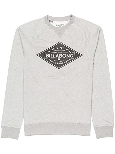 Billabong Herren Bogus Crew Sweatshirt, Blau Grey Heather