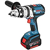 Bosch GSB 18 VE-2-LI Professional Cordless Combi Drill 18 V (includes 2 x 4.0 Ah Lithium Ion CoolPack Batteries)