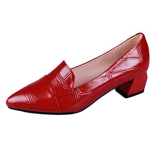 xmansky Damen Sommer Sandalen Wedges Leopard Casual Schuhe Strap Gladiator Roman Sandalen, Mode Frauen Pumpt Starke Absätze Beiläufige Einzelschuhspitze Lackschuhe