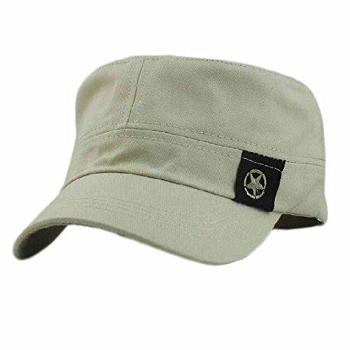 156f2ecb2b DDLBiz® Moda Unisex tetto piano Cappello Militare cadetto Patrol Cappello  australiano Baseball Field Cap (grigio)