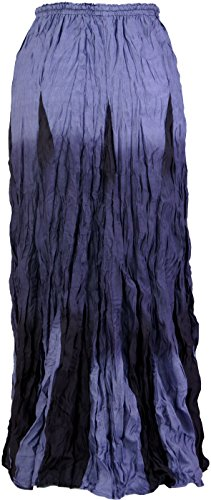Guru-Shop Maxirock Batik, Langer Sommerrock, Krinklerock, Damen, Grün, Viskose, Size:38, Lange Röcke Alternative Bekleidung Lila