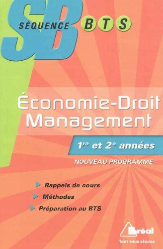 Economie Droit Management 1ère et 2ème année NE