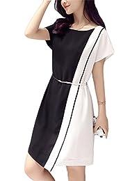 e46a96d5569d Huateng Abiti Colorati da Donna in Bianco e Nero