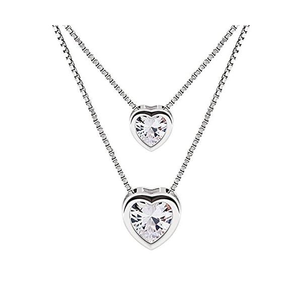 925 Sterling Silber Frauen Damen Halskette Anhänger Zirkonia Geschenke